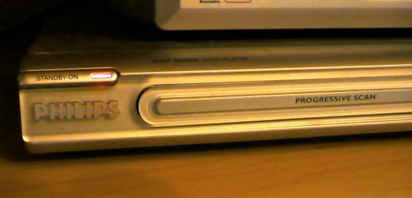 Philips DVD player in OFF state